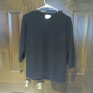 Band of Outsiders Cashmere 3/4 sleeve Knit Sweater